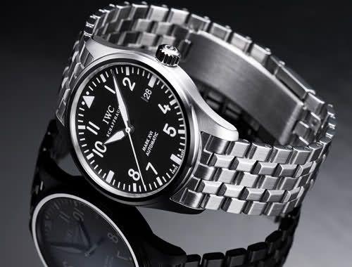 IWC MARK XVI Pilot Watch with Metal Bracelet - classic! <3