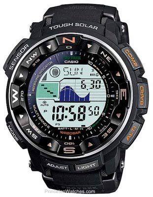 06151d87687b Casio Mens Pro-Trek Solar Multi-Band 6 Atomic - ABC - Orange Accents - 5  Alarms