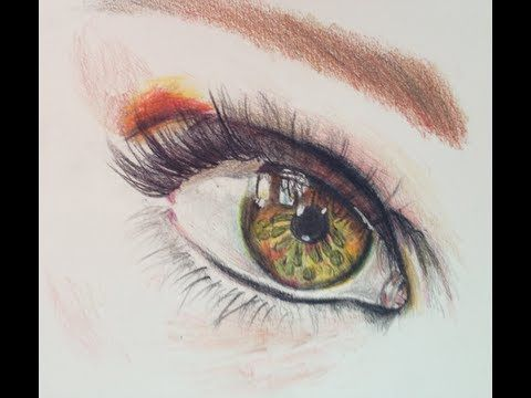 Drawing A Realistic Eye With Derwent Colored Pencil Time Lapse