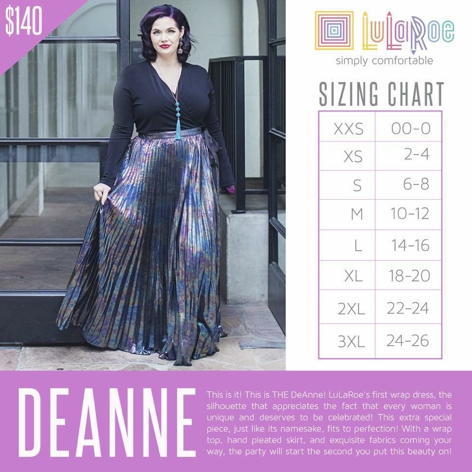 a3611c5c4 I am an Independent Fashion Consultant for LuLaRoe! LuLaRoe is a. LuLaRoe  DeAnne dress sizing chart