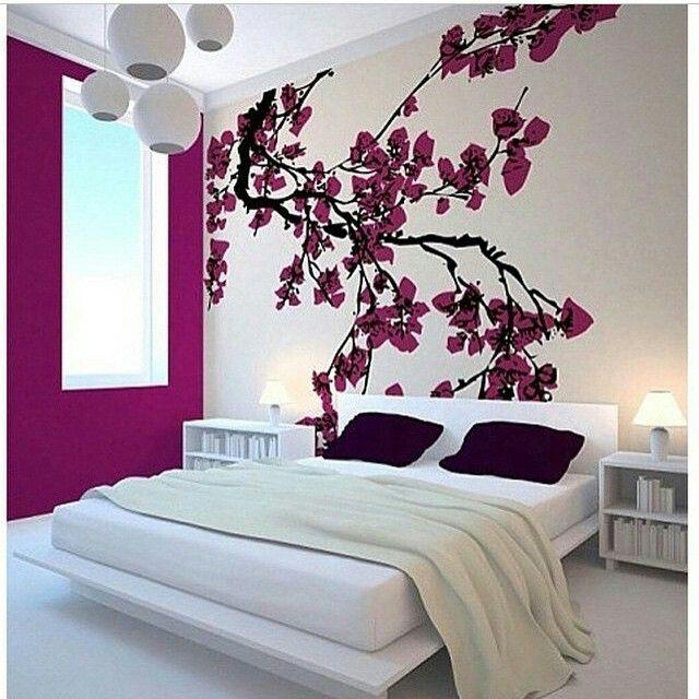 Bedroom Wallpaper Stickers Yellow Accent Wall Bedroom Bedroom Lighting Ideas Bedroom Ceiling Options: Bedroom, Bedroom Decor, Japanese