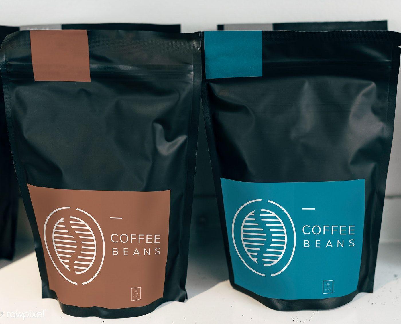 Coffee bean bag mockup design free image by