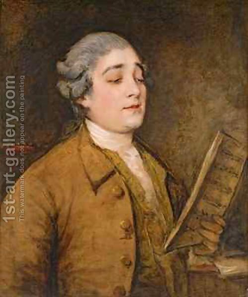 Thomas Gainsborough:Portrait of Giusto Ferdinando Tenducci castrato singer and…