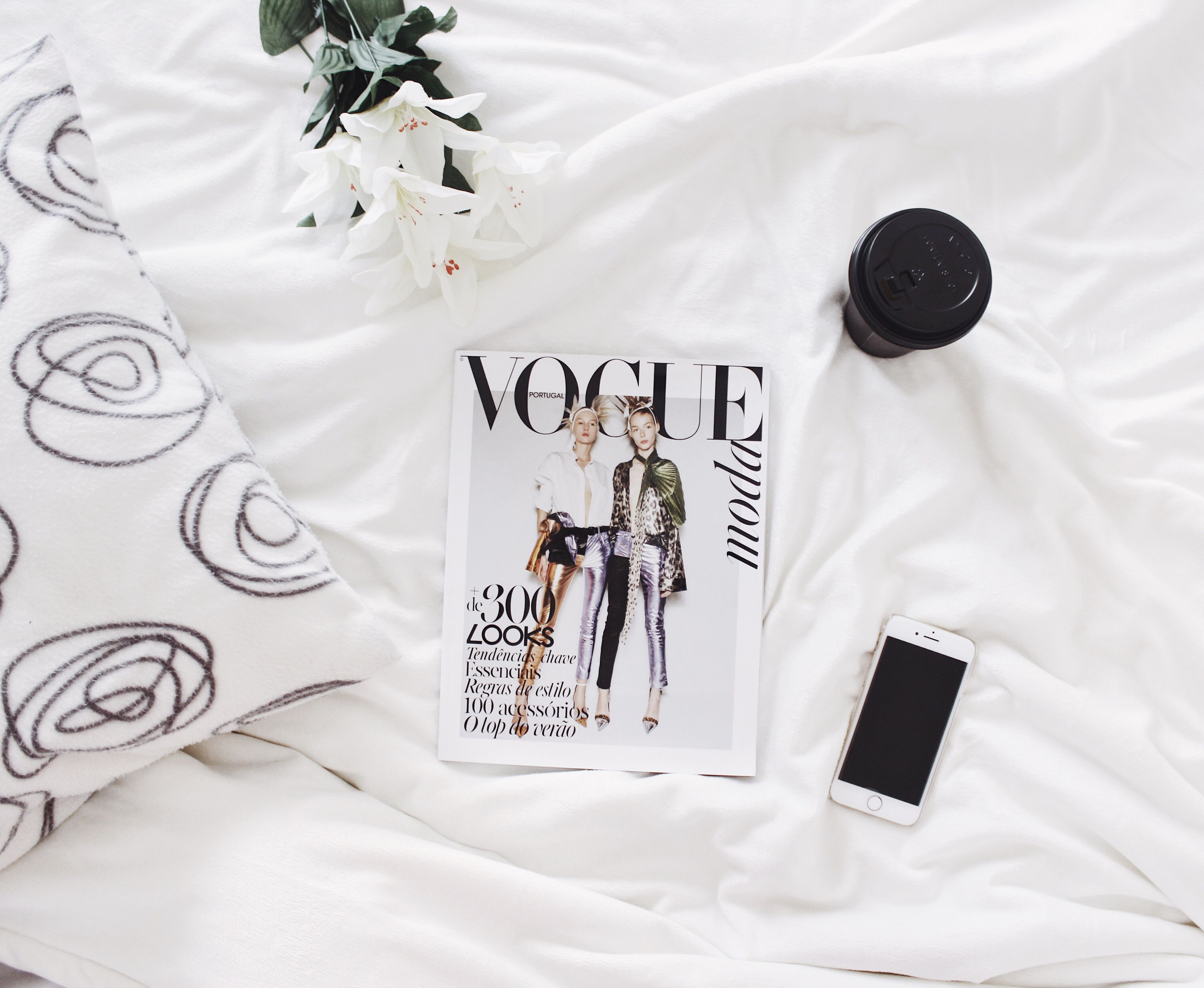 flatlays vogue style magazine flatlaystyle white decor home - Vogue Decor Magazine