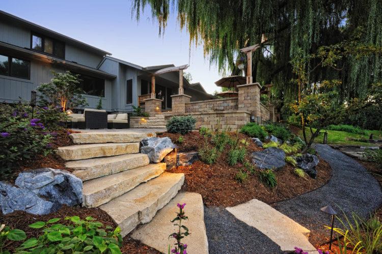 20 Beautiful Rustic Home Landscaping Ideas Landscape Design Backyard Backyard Landscaping
