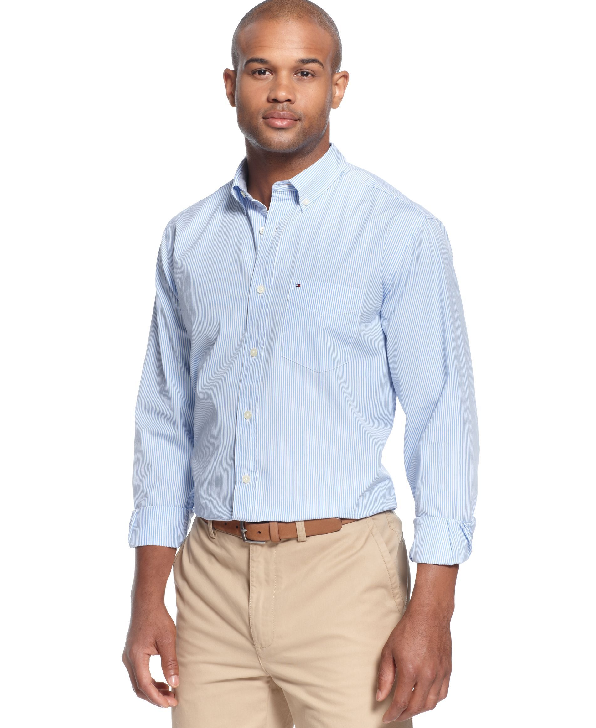 ed8f5592 Tommy Hilfiger Fitzgerald Striped Shirt | Products | Shirts, Mens ...