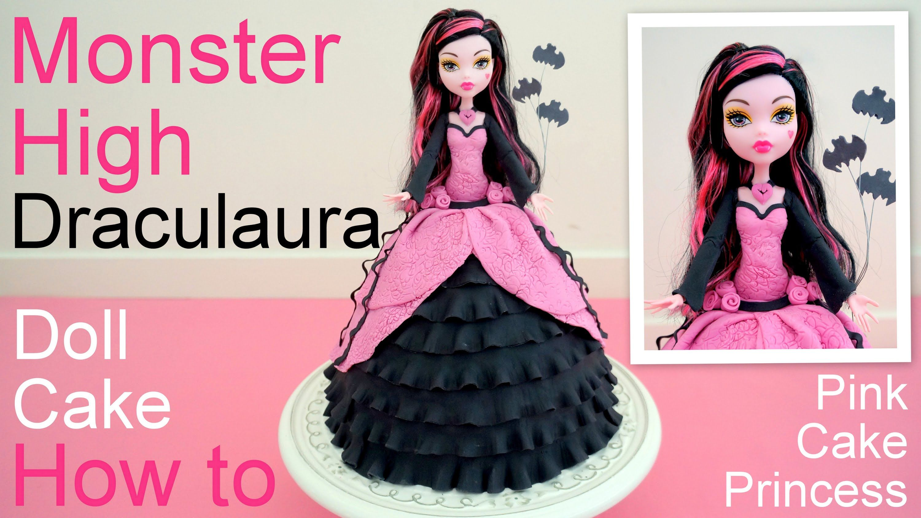 Halloween Monster High Draculaura Doll Cake How To By Pink Cake
