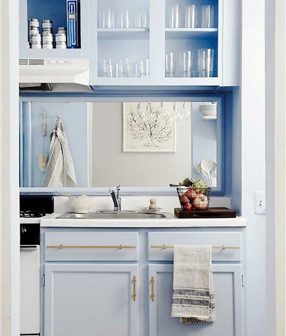 Cozinhas pequenas- colocar espelho