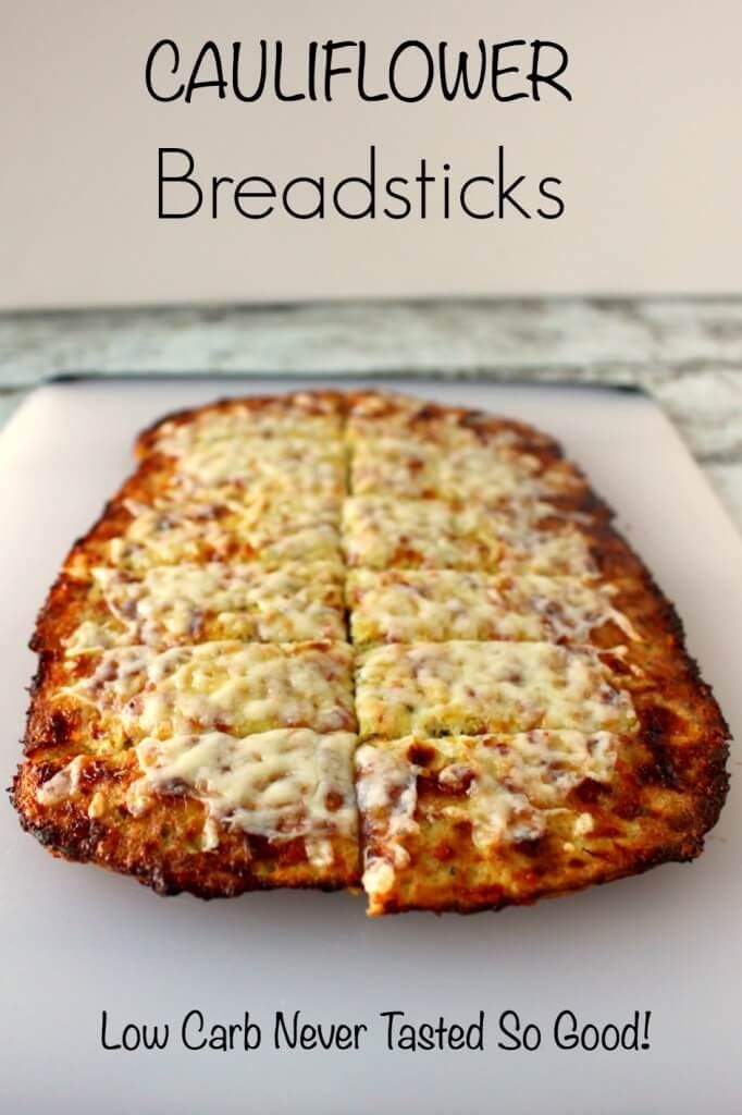 Cauliflower Breadsticks Low Carb Never Tasted So Good