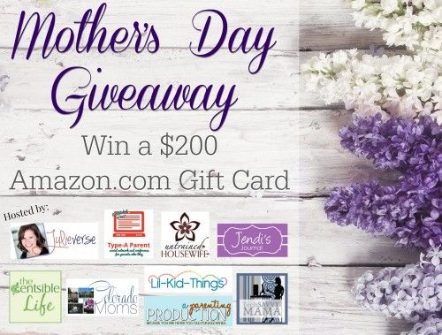 Last Day to Enter! (5/9) Treat Yourself to $200 for this Mother's Day #Giveaway