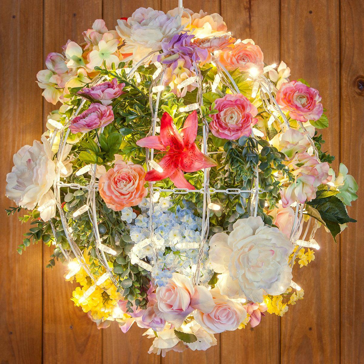 DIY Flower Light Balls   Ball lights, Flower lights ...