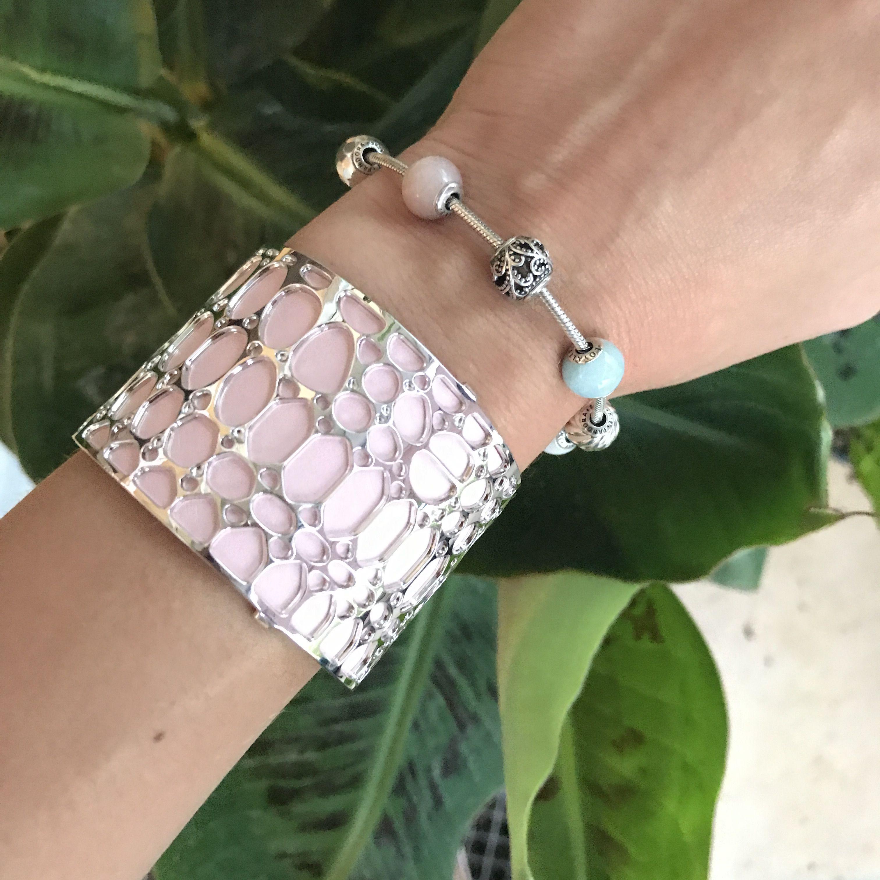 Bracelet essence Pandora et manchette les Georgette