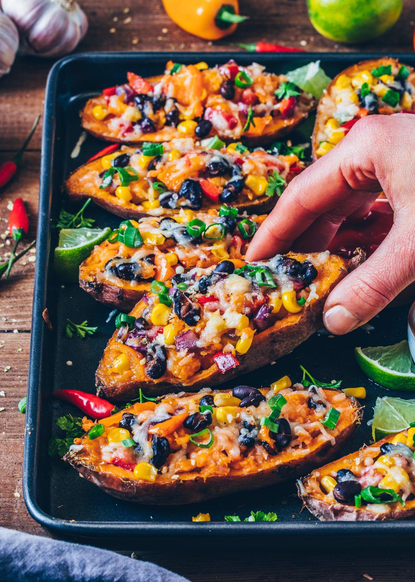 Mexikanisch gefüllte Süßkartoffeln - Vegan - Bianca Zapatka   Rezepte