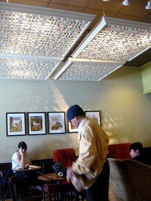 Bromeliad starbuck 39 s lattice ceiling inspiration - Diy ceiling light cover ...