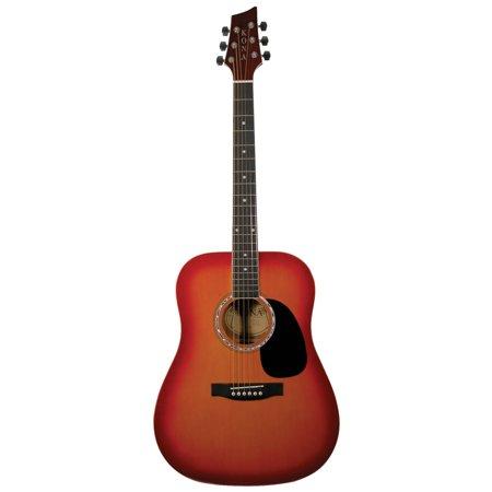 Kona K41csb 41 Inch Acoustic Dreadnought Guitar With Cherry Sunburst Finish Walmart Com Guitar Acoustic Sunburst