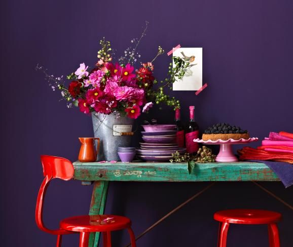 ▷ Lila \ Violett - Wandfarbe, Möbel, Wohnaccessoires und Deko - wohnzimmer gestalten rot