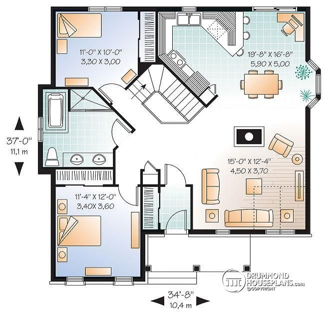 W2163-V1 - Affordable Ranch house plan with open floor plan and ...