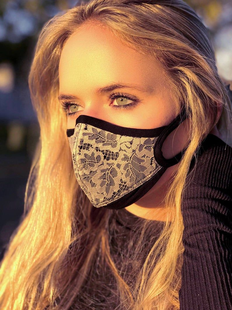 Traditional Bali Lace Air Pollution facemask Halloween