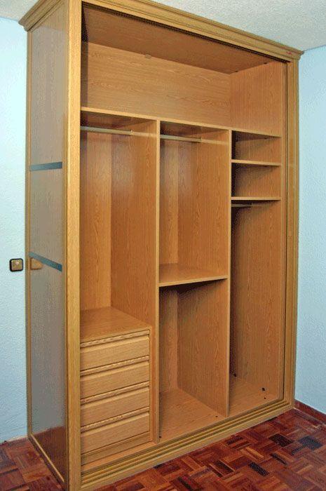 Interiores armarios empotrados a medida lolamados for Planos de roperos