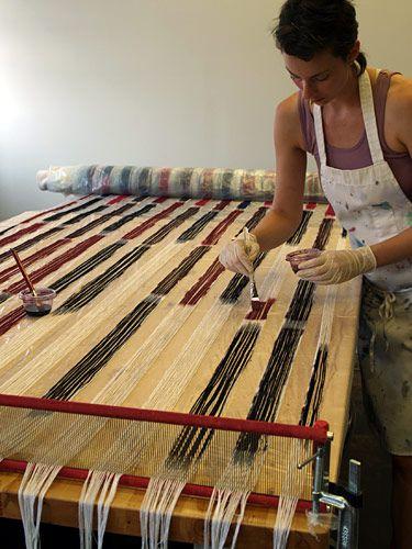 little fool textiles painting warps handwoven pinterest weben stricken und handarbeit. Black Bedroom Furniture Sets. Home Design Ideas