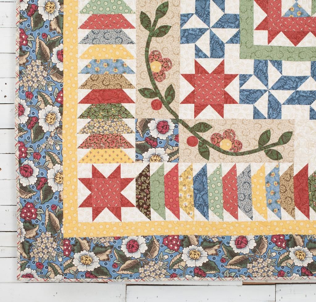 2016 Block of the Month: Garden Charm Quilt Kit - White