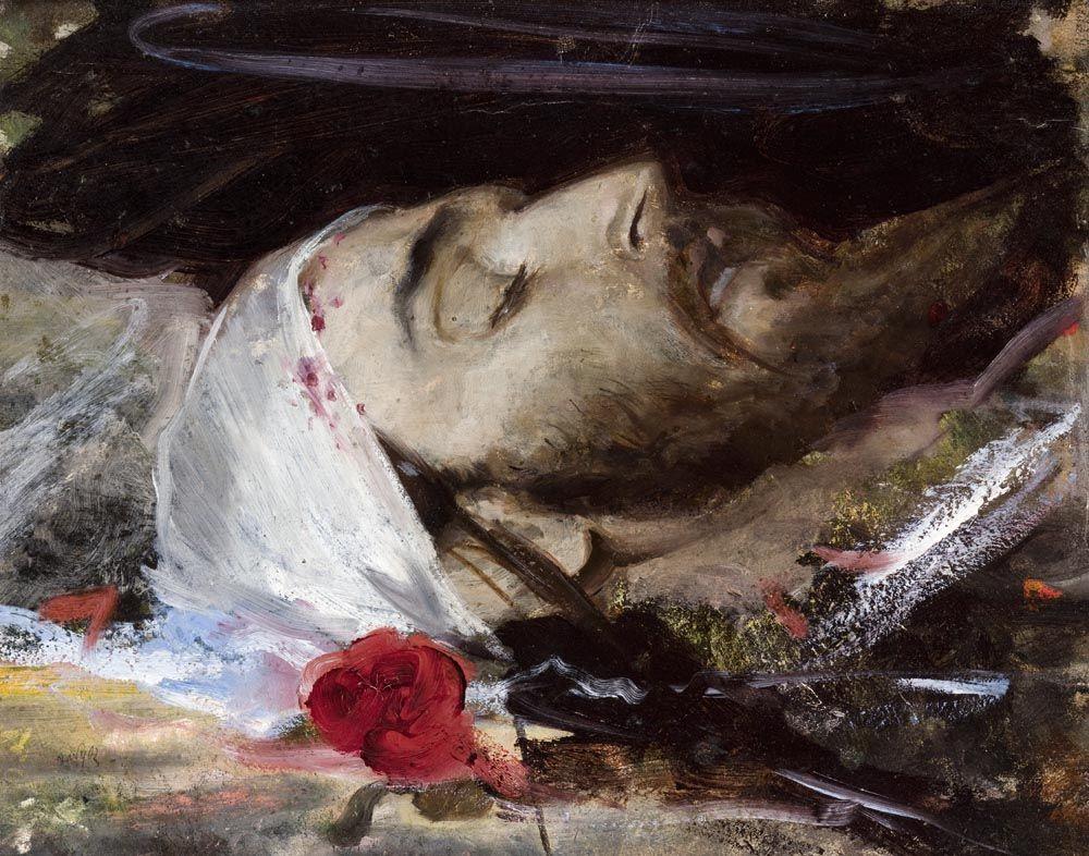 """Leon Wyczółkowski, """"Głowa Chrystusa"""", 1880.,"""