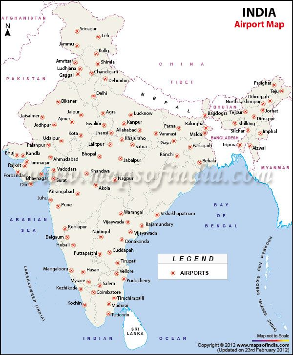 Major Airports In India India Map India Facts
