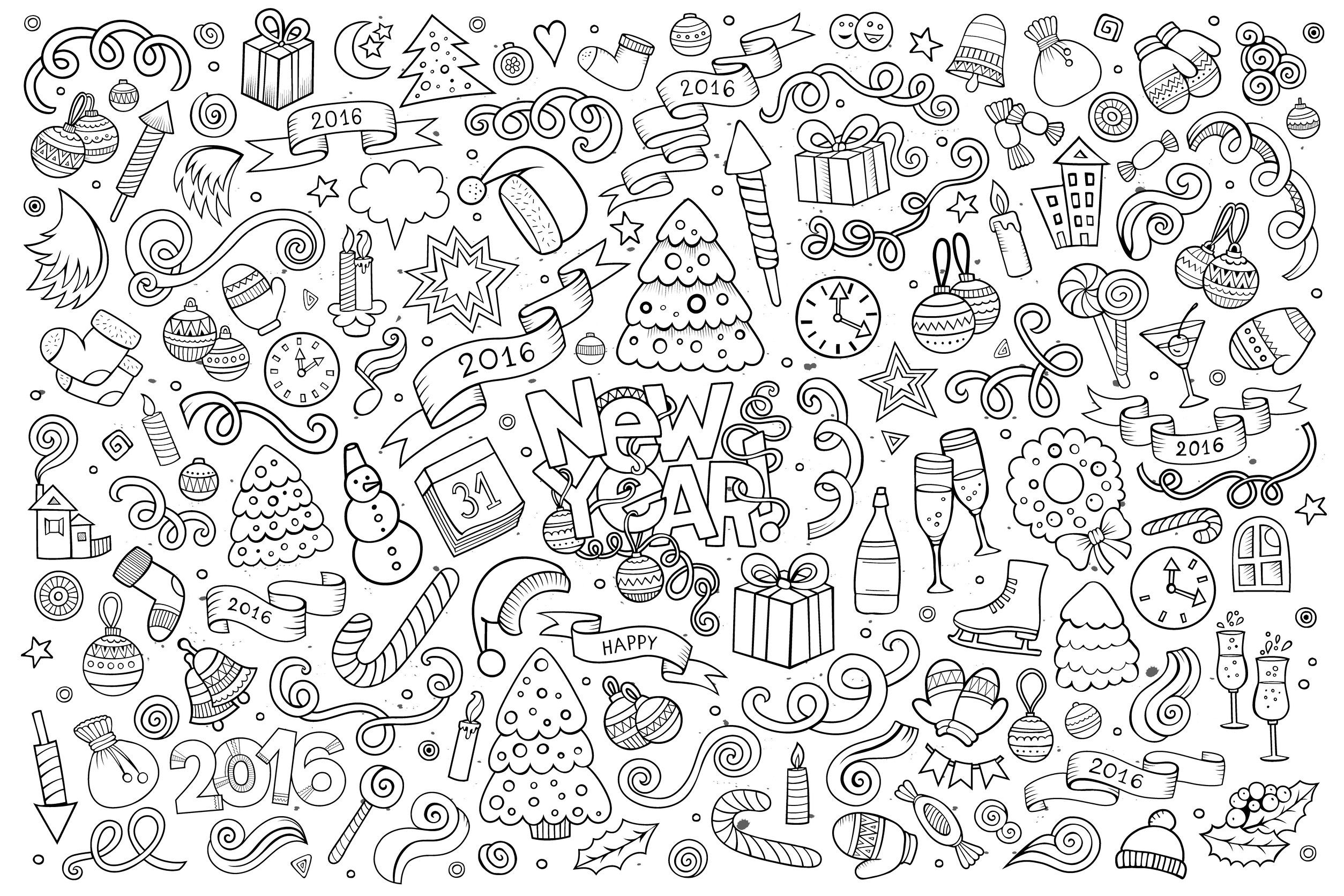 free doodle coloring pages - photo#21