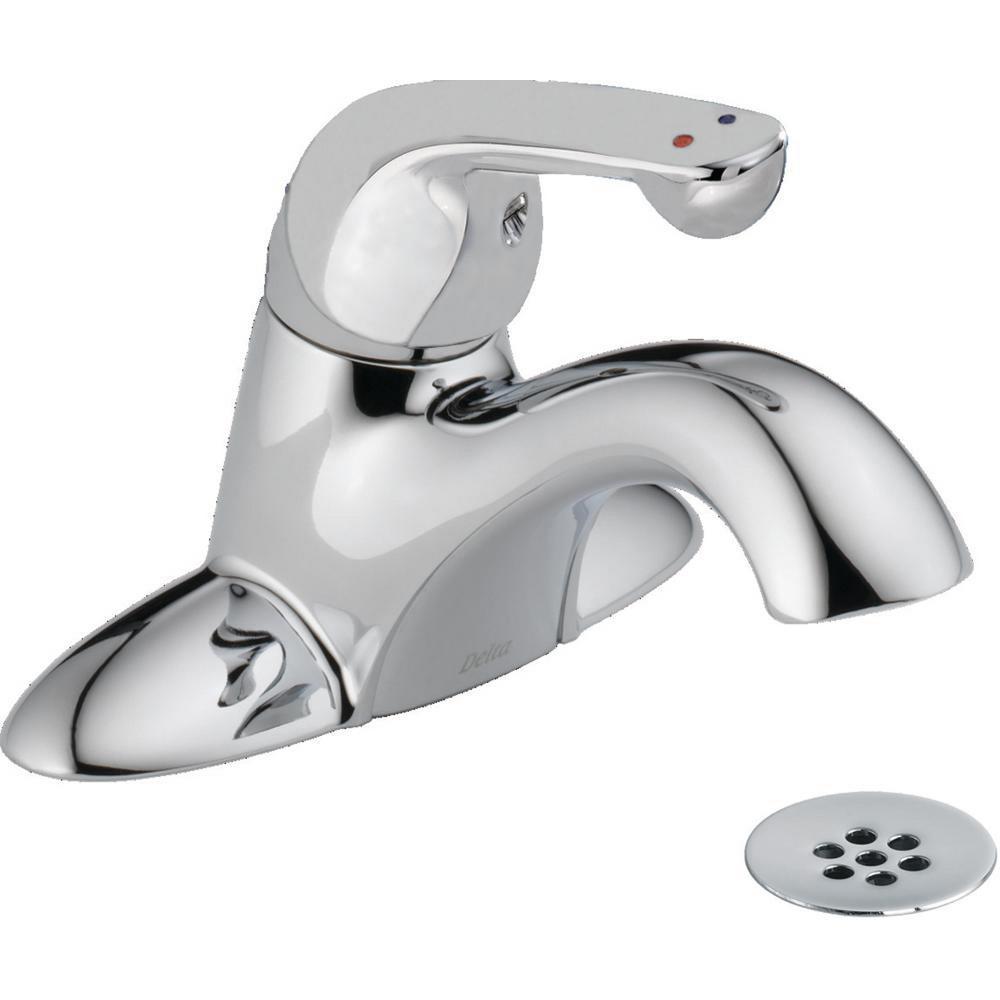 Delta Commercial 4 In Centerset Single Handle Bathroom Faucet In