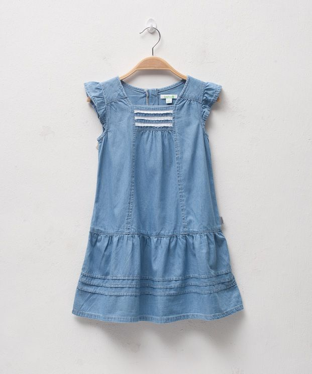 bossini Online Shop - Shop Kids Girls - Dresses - Flounced Sleeve ...