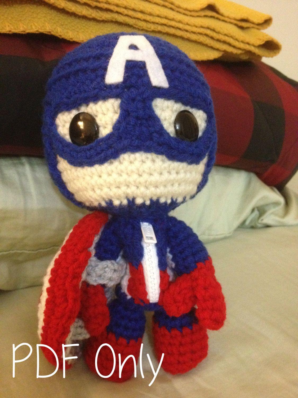 Captain America Sackboy Pattern Amigurumi Community Board