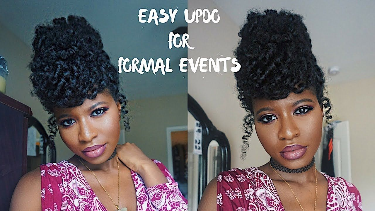 Easy Wedding Guest Updo Natural Hair Ft Weddingdigestnaija Youtube Wedding Guest Hairstyles Natural Hair Styles Natural Hair Wedding