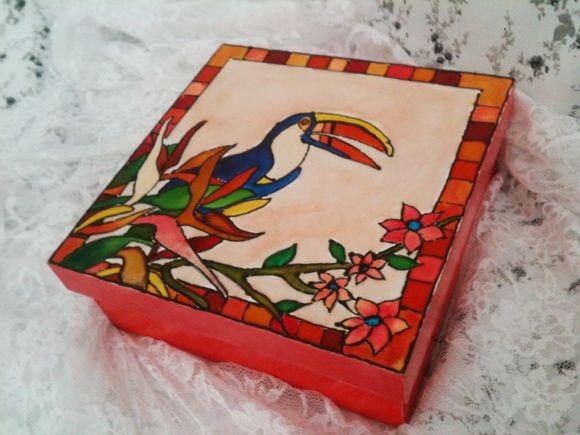 Caixa Pintura Vitral - Tucano