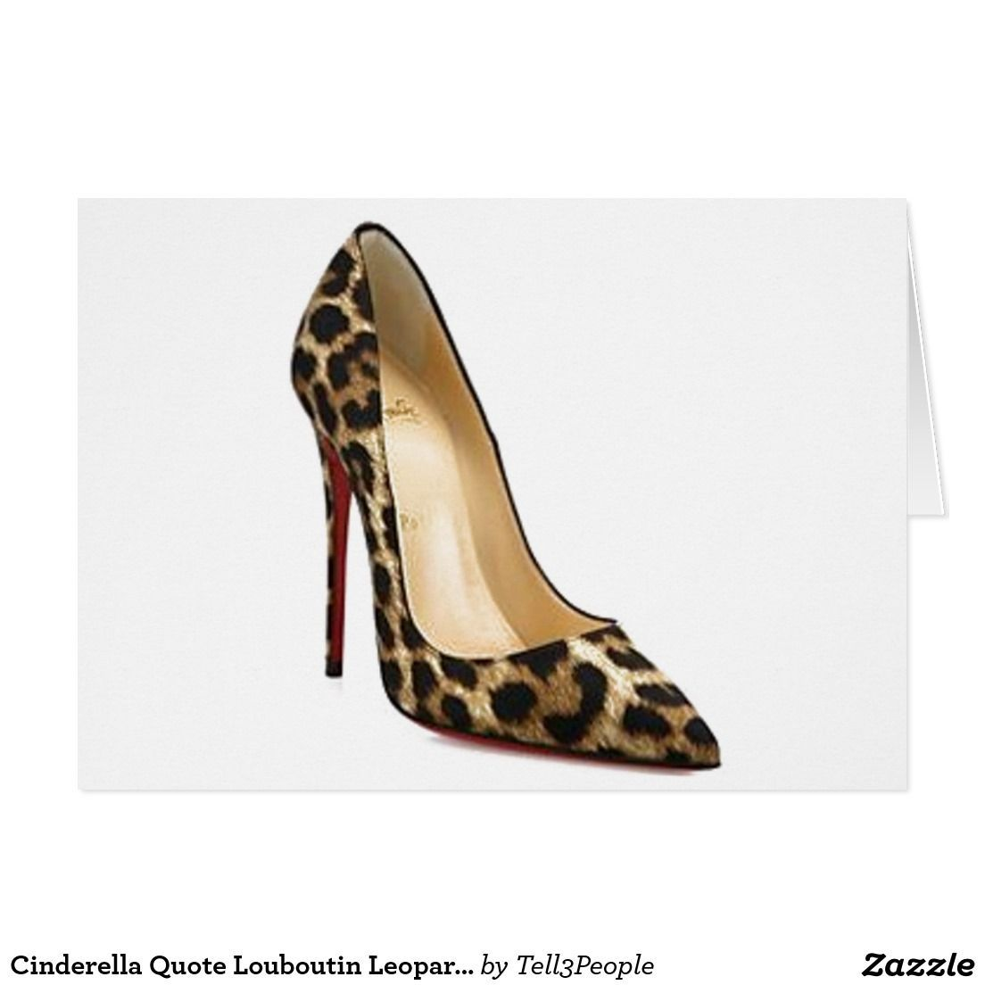 5419a40152f6 ... card cinderella quote louboutin leopard shoes by tell 3 people dc83b  dcb5a clearance christian louboutin kid leather fifi 85 pumps 35.5 black  97467 ...