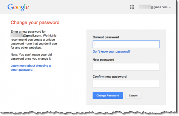 Reason to Gmail Password Change If I am right then every
