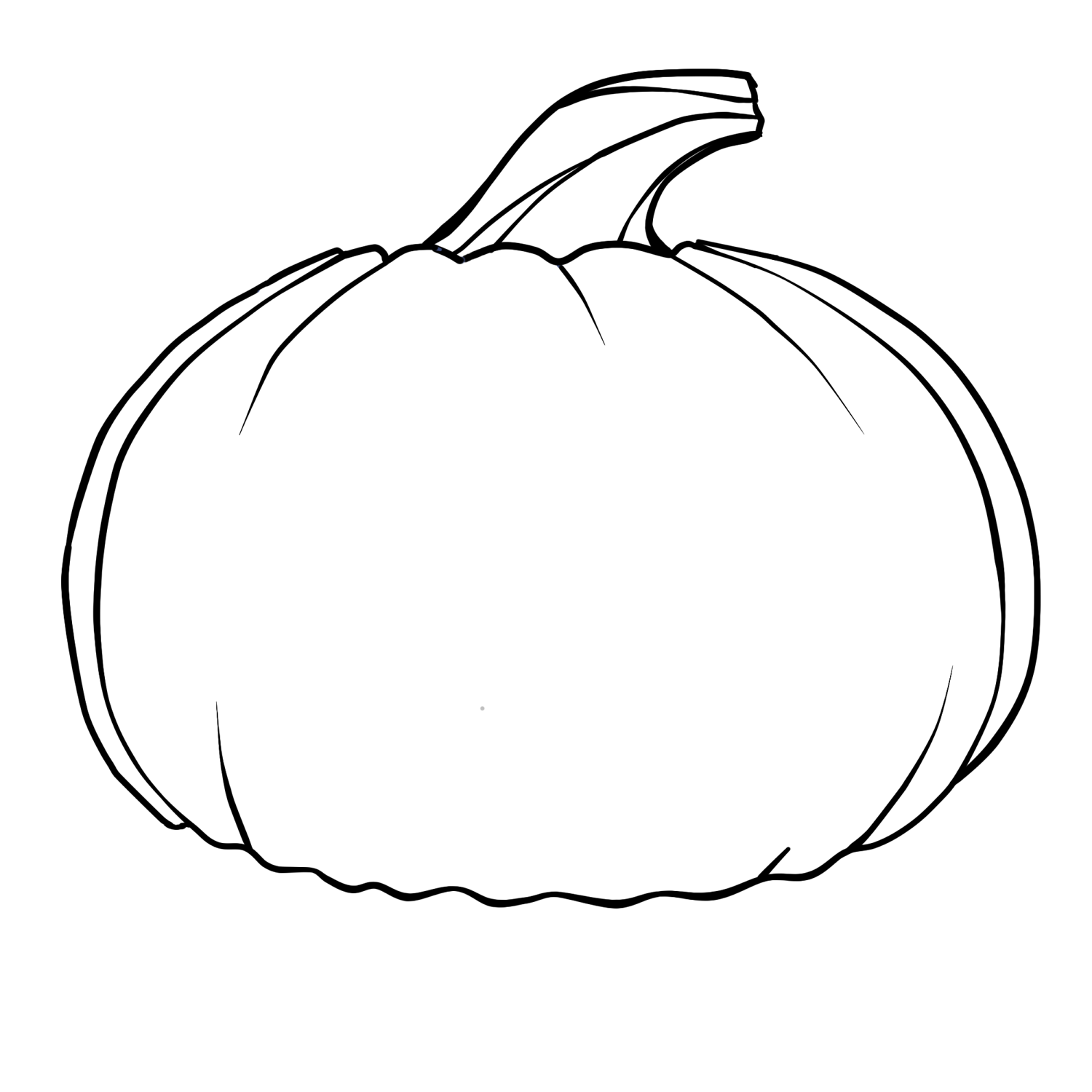 Pumpkin coloring pages for kids - Simple Shapes Coloring Pages Free Printable Pumpkin Coloring Pages For Kids