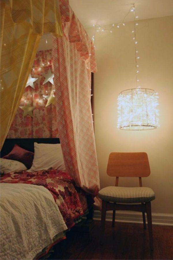 Kinderzimmer Deckenlampe   Designideen Für Tolle Deckenbeleuchtung  Schlafzimmer Ideen, Kinderzimmer, Weihnachtsbeleuchtung, Himmelbett,