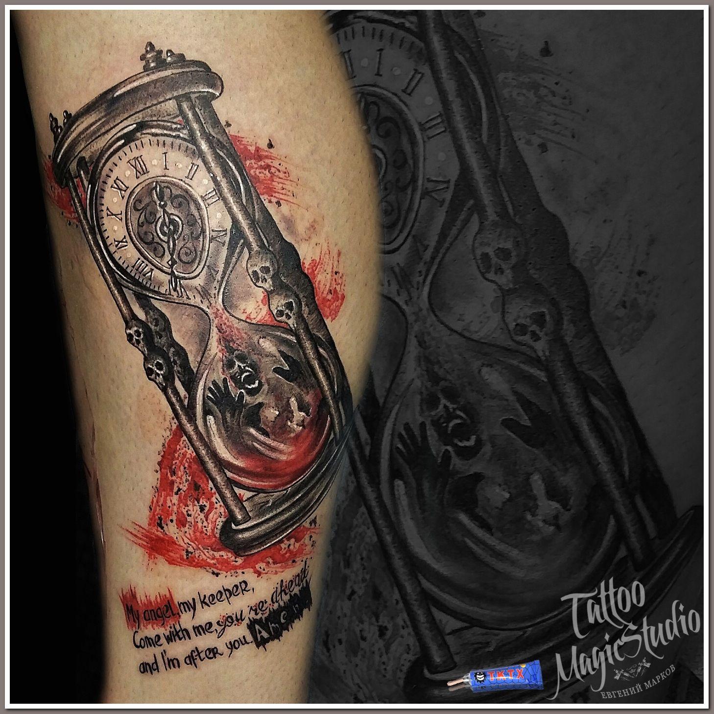 треш полька Trash Polka песочные часы Hourglass мои тату работы