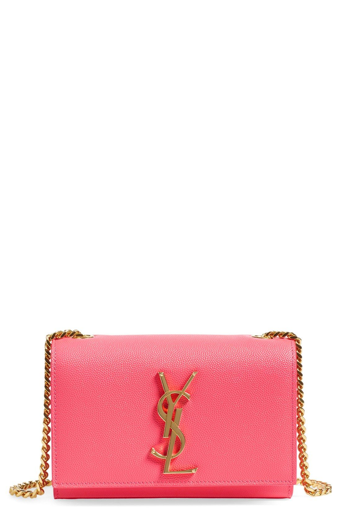 This Bright Pink Crossbody With Gold Chain Is Definitely At The Top Of Wish List Baby Bagsbeautiful Handbagsdesigner