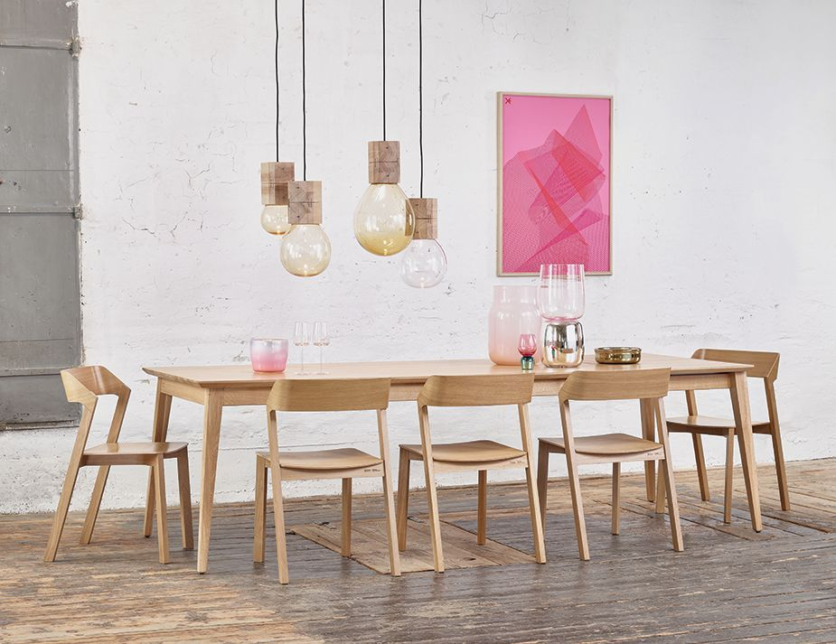 Natural Jutland A Grade Solid European Oak X Cm Dining Table - Modern 10 seater dining table