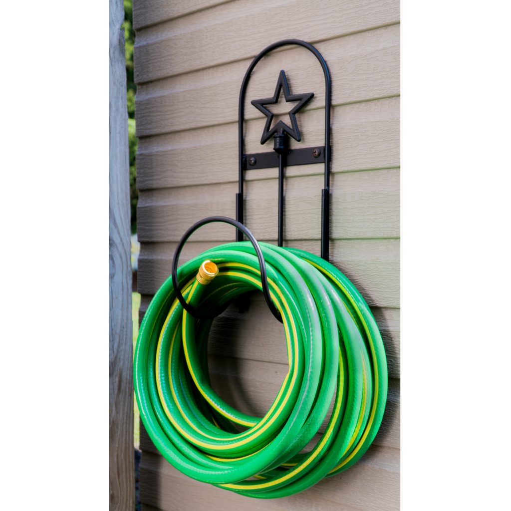 wrought iron wall mount hose holder-star design   ضروريات