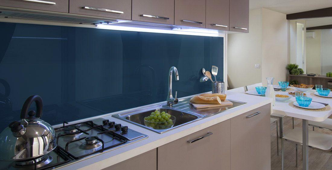 Image Result For Dark Blue Glass Kitchen Backsplash Kitchen