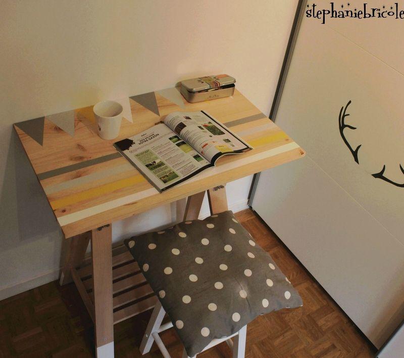 Diy bureau treteau bureau pinterest bureau treteau - Bureau avec treteau ...
