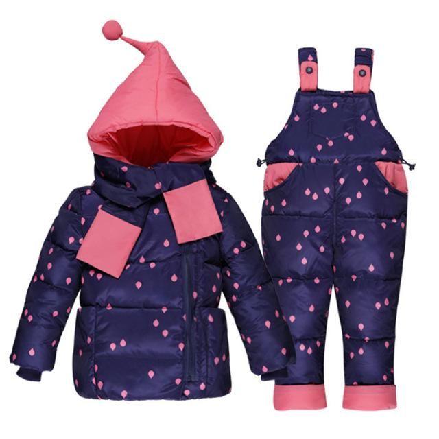 c71558dbadff TouchCare Kids Down Jacket Overalls Suit Boys Girls Winter Parkas ...