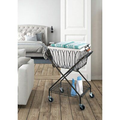 Artesa Collapsible Laundry Cart Laundry Cart Laundry Hamper Home