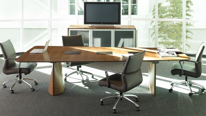 Large Conference Host Table Technology And Collaboration - Conference table shapes