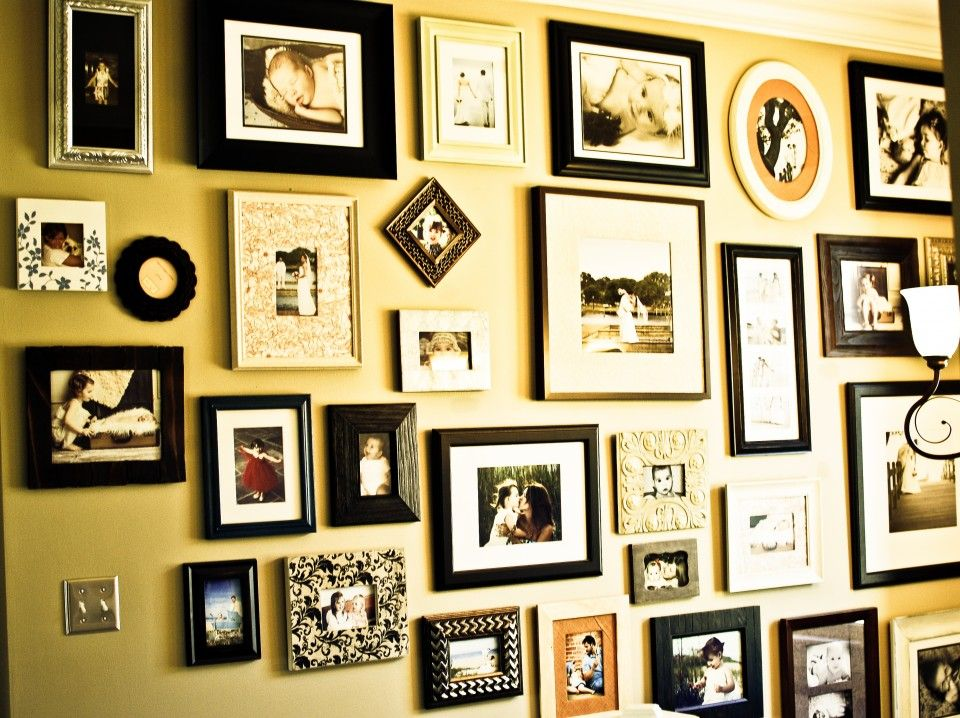 photo wall up the stairs | House | Pinterest | Photo wall, Walls and ...