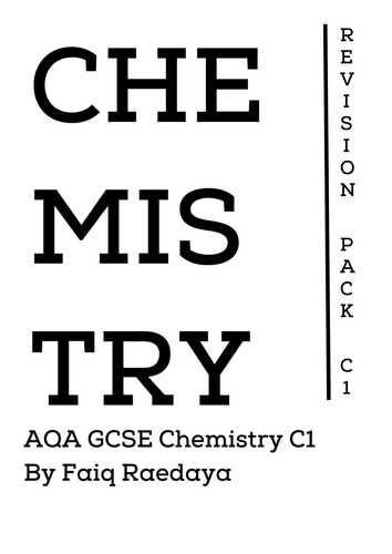 AQA GCSE Chemistry C1 Revision Notes Booklet (With images
