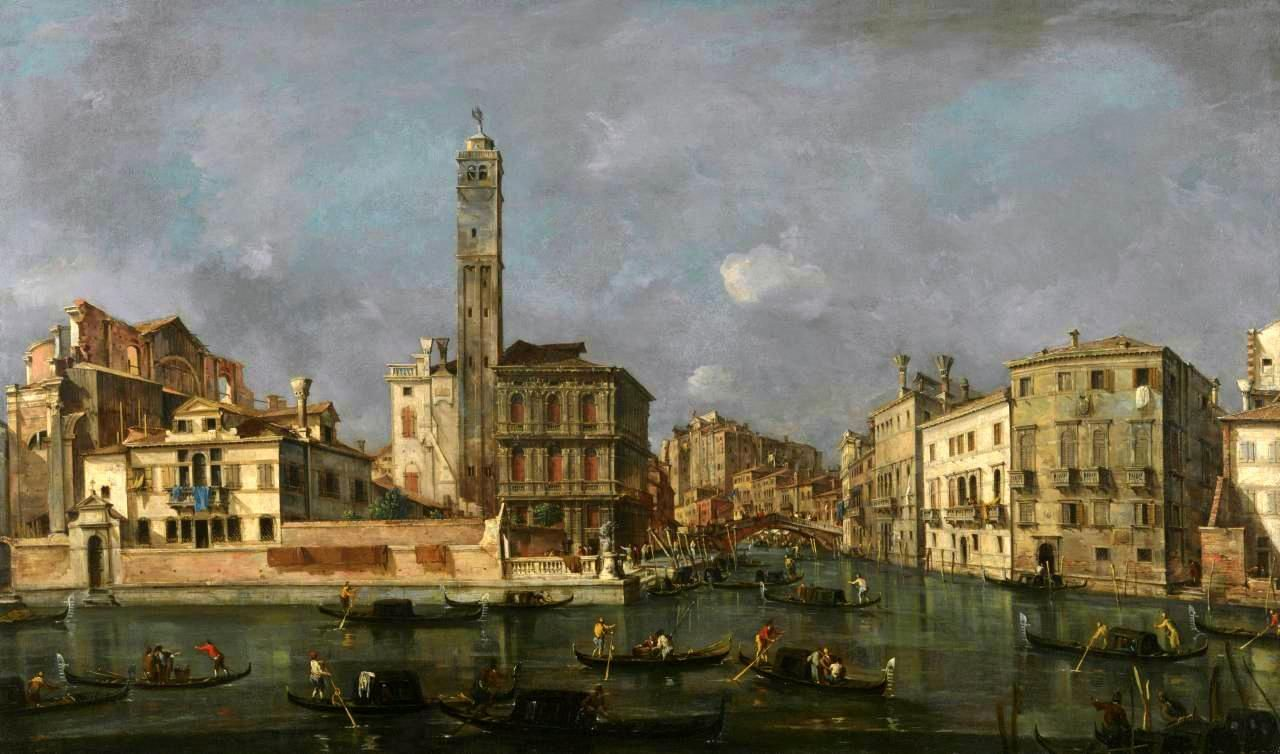 Francesco Guardi – Alte Pinkothek. Grand Canal: San Geremia and the Entrance to the Canneregio (c. 1769)