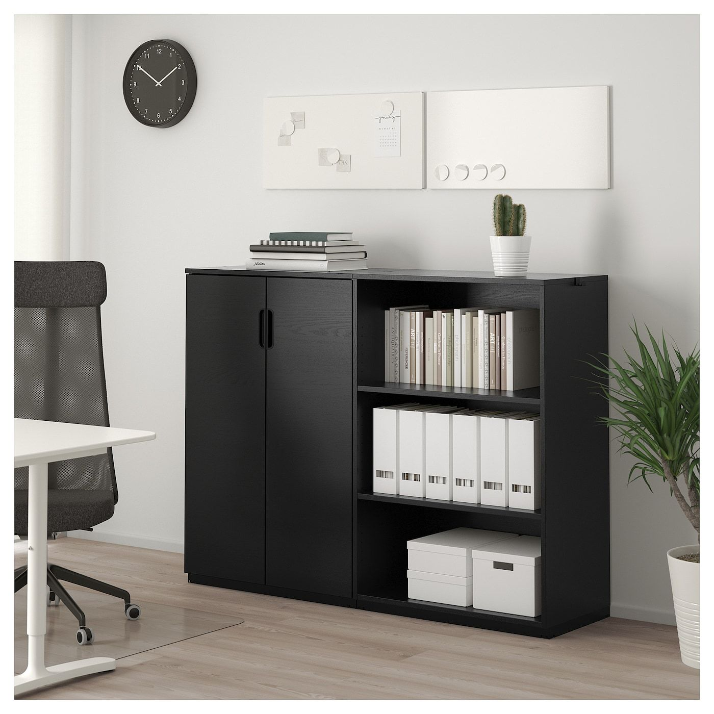 IKEA GALANT Storage combination black stained ash veneer